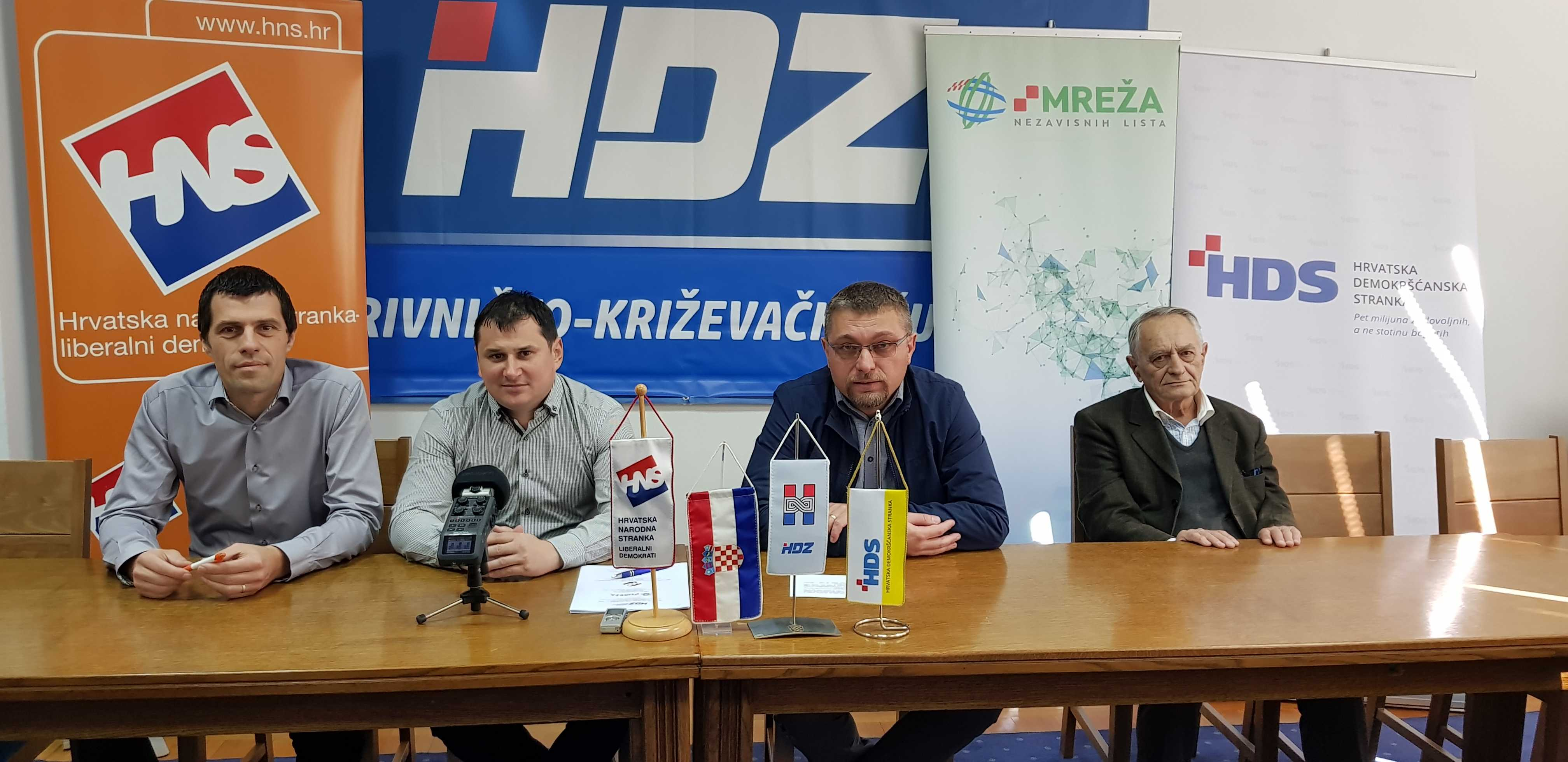 Koprivnička Mreža, HDZ, HNS i HDS potpisali predizborni koalicijski sporazum