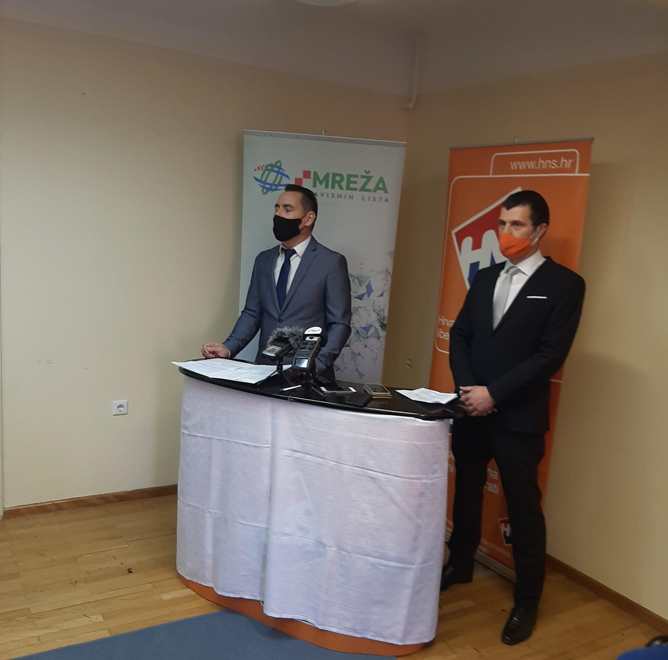 Predstavljen kandidat za gradonačelnika Koprivnice Ivica Suvalj (Mreža) i kandidat za zamjenika gradonačelnika Goran Pakasin (HNS)