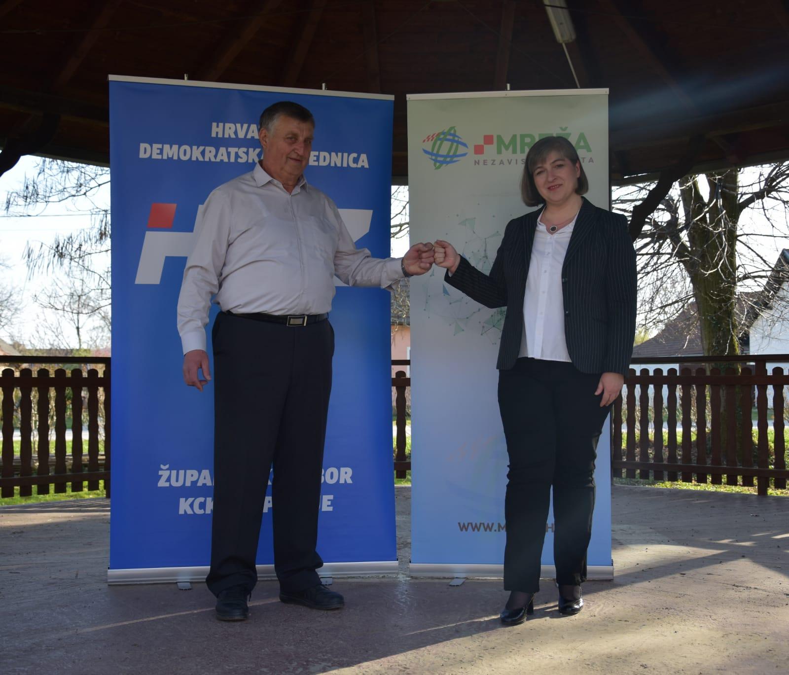 Koalicija Mreže nezavisnih lista i HDZ-a na lokalnim izborima u Općini Koprivnički Bregi